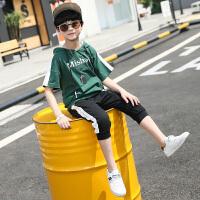 男童夏装新款套装连帽韩版运动夏季童装儿童短袖两件套潮