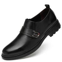 特大码男士休闲皮鞋46加大号47秋季小码36商务正装37真皮男鞋子38 黑色