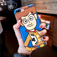 巴斯光年可爱卡通iPhoneXs Max XR苹果X 7plus手机壳6s/8胡迪软套 6/6s imd软-胡迪