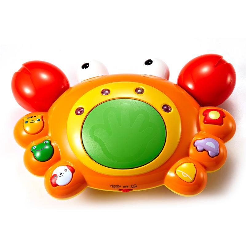 [当当自营]Auby 澳贝 运动系列 好问爬行小蟹 婴儿玩具 463307【当当自营】宝宝的爬行教练 可进行有趣的知识问答 增强体能和逻辑思维能力