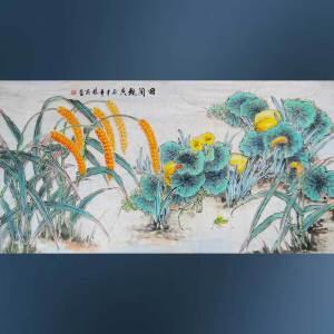 现代画家   杨丽   田间飘香  42