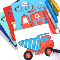 儿童绘画套装涂色本3-6岁初学者启蒙男女童幼儿园蜡笔画画涂鸦书