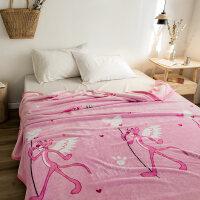 云貂绒毛毯法兰绒小毛毯加厚床单单人午睡盖毯珊瑚绒夏季空调毯子