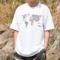 夏季男装短袖T恤衫 加肥加大号宽松肥佬汗衫 圆领欧版男字母半袖 16 10