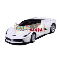 比美高1:24法拉利laferrari 拉法 458恩佐仿真合金跑车模型原厂 长约18C 比美高法拉利 红色 比美高拉