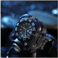 手表多功能户外运动石英表手腕灯防水个性强光手电筒可充电夜跑骑行灯