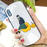 苹果x手机壳弧形8plus玻璃后壳iphone7全包边情侣6s少女款xs网红xmax个性男iphon