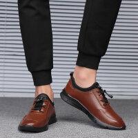 皮鞋男真皮商务秋季凉男鞋新款韩版软面皮青年黑色正装男士小皮鞋