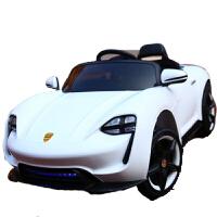 婴儿童电动车四轮带遥控汽车可坐小车小孩宝宝玩具童车充电可坐人 白色 缓起+早教+拉杆+摇摆
