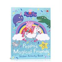 【全店300减100】英文原版Peppa Pig: Peppa's Magical Friends Sticker Ac