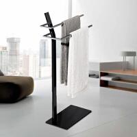 简约格调德国设计多功能可移动卫浴架毛巾架落地式浴巾架子免打孔