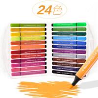 水彩笔套装幼儿园大容量绘画套装彩笔彩色笔套装初学者手绘 粗杆水彩笔24色水彩画笔儿童绘画36色可水洗