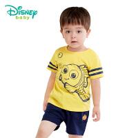 【3件3折到手价:51.3】迪士尼Disney童装男童套装新款纯棉夏季两用档婴儿衣服宝宝休闲外出服