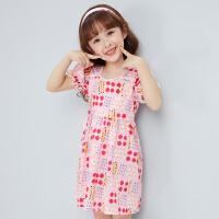 【3件1.5折价:39】笛莎女童连衣裙2021夏季新款女童洋气时尚甜美连衣裙正品
