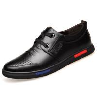 皮鞋男商务休闲鞋秋季新款男士黑色皮鞋英伦韩版软面青年男鞋
