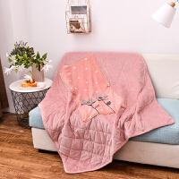 秋冬季加厚抱枕被子两用多功能午睡车内枕头折叠毛毯学生空调被 40X40cm