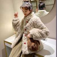 皮草外套女2020秋冬中长款仿羊羔绒獭兔毛年轻款大衣立领慵懒风