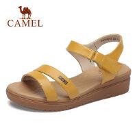 camel 骆驼平底凉鞋2018夏季新款坡跟中跟学生软妹鞋子韩版百搭罗马女鞋