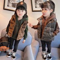女童冬装韩版新款加绒加厚连帽卫衣金丝绒马甲两件套B4-A0