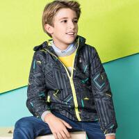 【2件5折到手价:294.5元】暇步士童装男童加绒风衣外套男童外套儿童外套