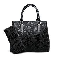 女包包2018新款鳄鱼纹手提包时尚百搭大容量韩版简约单肩斜跨包潮SN0500