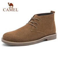 camel骆驼男鞋 秋季日常休闲通勤工作沙漠短靴潮流时尚中帮靴子