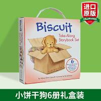 正版进口 小饼干狗6册礼盒装 英文原版绘本 Biscuit Take-Along 6 Book 游戏活动书 晚安故事图