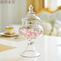 0516041030856婚庆糖罐装饰品 玻璃糖缸 实用糖果罐玻璃缸 储物罐