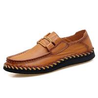 男士皮鞋特大码45休闲鞋子加大号46手工潮流软底真皮男鞋47码英伦