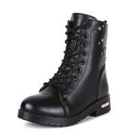 秋冬季新款短靴马丁靴加绒保暖棉靴短筒棉鞋学生女鞋子潮女靴子
