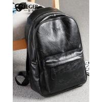 男士双肩包韩版学生休闲旅行背包包商务包电脑皮包大容量潮流书包