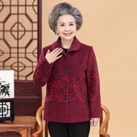 中老年人女装冬装棉衣60-70岁80潮秋冬老人衣服奶奶加绒加厚外套