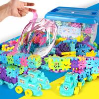 儿童拼插积木塑料房子玩具3-6周岁1-2-4男孩女孩宝宝创意拼装小屋