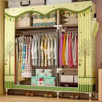 简易衣柜钢管加粗加固布衣柜布艺简约现代经济型组装衣橱收纳柜子2563