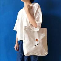 韩国韩版文艺帆布包女单肩包简约森系学生环保袋女手提购物袋