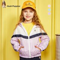 【预估券后价:113元】暇步士童装女童风衣春季新款大童宝宝连帽上衣洋气儿童外套