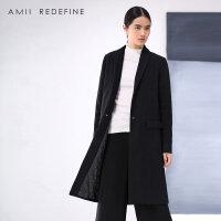 [AMII东方极简] JII AMII2017冬季新品大码复古呢子大衣加棉加厚毛呢外套女装