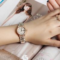 宝时捷手表女正品自动机械表时尚带日历商务防水保时捷腕表6604L