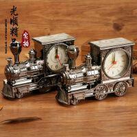 欧式怀旧复古火车头闹钟 时尚个性塑胶模型闹钟 创意家居礼品