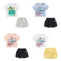 女童夏装短裤套装婴儿短袖t恤1岁3个月2男宝宝衣服