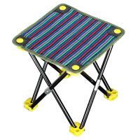 钓鱼折叠椅 便携式露营野炊凳子户外坐火车小马扎可折叠金属框架耐磨花纹布料椅子 小马扎