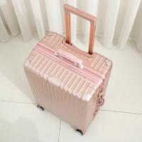 镜面复古镁合金铝框硬箱男女拉杆箱21寸行李箱25寸旅行箱子万向轮