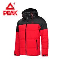 匹克保暖棉衣 冬季新款 男款 连帽拼色时尚户外外套F564321