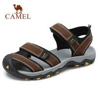 camel 骆驼男鞋 夏季新款凉鞋男休闲鞋牛皮包头沙滩鞋户外凉鞋