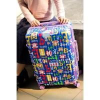 旅行箱包卡通拉杆行李花皮箱子女男学生托运登机密码万向静音大轮 蓝色 蓝色猴子