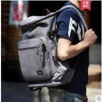 户外大容量双肩包男多功能旅游包包旅行背包运动休闲帆布包