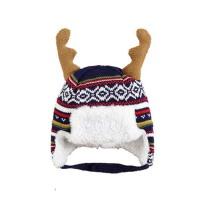 婴儿冬天帽子 宝宝针织加绒保暖帽 护耳帽 童帽 珊瑚绒雷锋帽