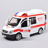 儿童合金警车玩具汽车模型 男孩小汽车模型警察回力声光