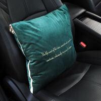 汽车内饰清新抱枕被子两用休息折叠车载多功能腰靠垫抱枕被枕头