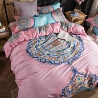 家纺床上用品纯棉床上四件套全棉套件1.8m1.5床单被套床笠4三件套